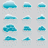 Universal icons clouds - Set  (Weather) Royalty Free Stock Photography