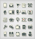Universal icons paper cut style Royalty Free Stock Images