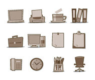 Universal Icons Retro Fresh Collection - Set 2 Stock Image