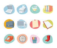 Universal Icons Retro Revival Collection - Set 2. Professional Office icon collection for websites, applications or presentations Royalty Free Stock Photo
