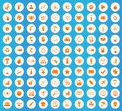 Universal icons round set Stock Images