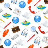 Universal icons, seamless pattern Stock Image
