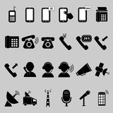 Universal icons. A set of universal icons Stock Image