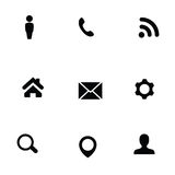 Universal 9 icons set Stock Photography