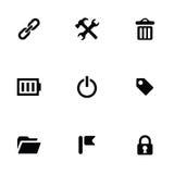 Universal 9 icons set Stock Image