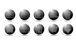 Universal Icons For Web. 10 Universal Outline Icons For Web Royalty Free Stock Images