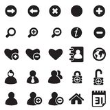 Universal icons for web & mobile Royalty Free Stock Images