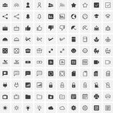 100 Universal Icons For Web and Mobile Royalty Free Stock Photo