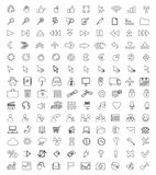 Universal Icons For Web and Mobile Stock Image