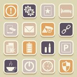 Universal Icons For Web and Mobile Royalty Free Stock Images