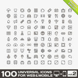100 Universal Icons For Web and Mobile volume 2. 100 Universal Vector Icons For Web and Mobile volume 2 Stock Photos