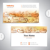 Universal Industrial business card Royalty Free Stock Photo