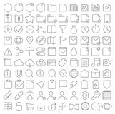 Universal interface icons set Royalty Free Stock Photography