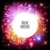 Universal invitation card template design Stock Photo
