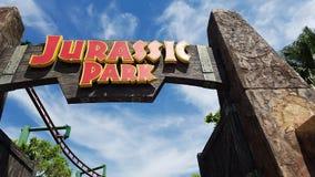 Universal Jurassic Park de Singapura imagens de stock