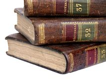 Universal Knowledge. Ancient encyclopedic books from the last century Stock Image