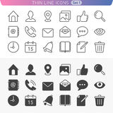 Universal line icon set 1. Trendy line icons for web and mobile. Normal and enable state Stock Photos