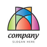 Stained-glass logo Stock Photography