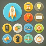 Universal, long shadow icons Royalty Free Stock Photo