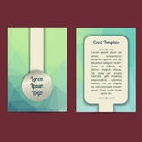 Universal Low Poly Card Templates Stock Photography