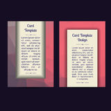 Universal Low Poly Card Templates Royalty Free Stock Photo