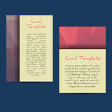 Universal Low Poly Card Templates Stock Image