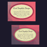 Universal Low Poly Card Templates Stock Photos