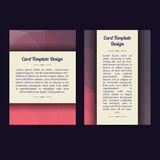 Universal Low Poly Card Templates Stock Images