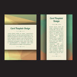 Universal Low Poly Card Templates. Set of two low poly universal card template designs, perfect for brochure covers, leaflets, flyers, cards and invitations stock illustration
