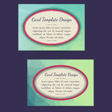 Universal Low Poly Card Templates. Set of two low poly universal card template designs, perfect for brochure covers, leaflets, flyers, cards and invitations vector illustration