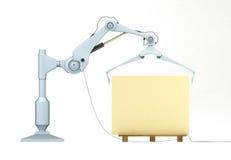 Universal mechanical manipulator 2. 3D illustration of a powerful universal mechanical manipulator Stock Image