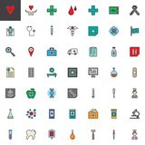 Universal medical elements filled outline icons set. Line vector symbol collection, linear colorful pictogram pack. Signs, logo illustration, Set includes Royalty Free Stock Photos