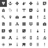 Universal medical elements vector icons set. Modern solid symbol collection, filled style pictogram pack. Signs, logo illustration. Set includes icons as Stock Photography