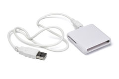 Universal memory card reader Stock Photo