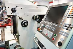 Universal milling and drilling machine Stock Photo