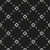 Universal minimal vector seamless pattern with small floral shapes, squares, triangles, grid. Dark design for decor, prints, fabri. Universal minimalist vector Royalty Free Stock Image