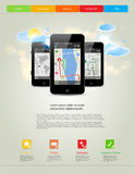 Universal mobile phones template royalty free illustration