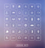 Universal modern thin line icons for web and Royalty Free Stock Photos