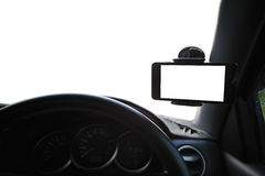 Universal mount holder for smart phones Royalty Free Stock Photo