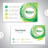Universal natural green business card. Royalty Free Stock Photo