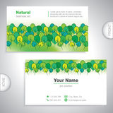 Universal nature business card. Royalty Free Stock Photos