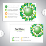 Universal nature business card. Royalty Free Stock Photography