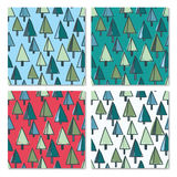 Universal New Year seamless pattern set Royalty Free Stock Images