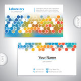 Universal orange-blue laboratory business card. Royalty Free Stock Photography