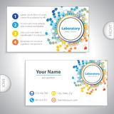 Universal orange-blue laboratory business card. Royalty Free Stock Images