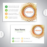 Universal orange business card. Universal orange laboratory business card Royalty Free Stock Photo