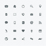 Universal Outline Icons Royalty Free Stock Images