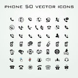 50 Universal Outline Icons For Web and Mobile Stock Photography