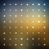 Universal outlined icons Royalty Free Stock Photo