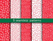 5 universal patterns for your background. Endless texture can be used for wallpaper, pattern fill, web page background. Vector illustration for web design Vector Illustration